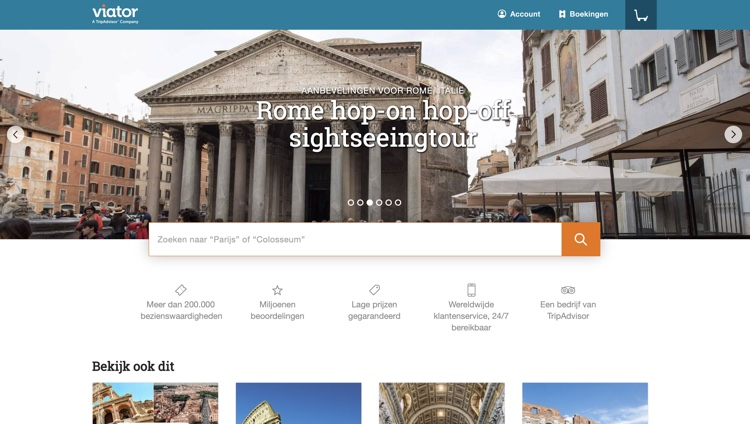 website van viator